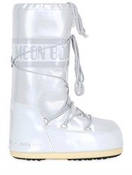 Moon Boot Shiny Nylon Waterproof Snow Boots