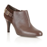 Lotus Mist High Heel Boot Shoes Brown