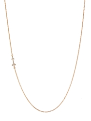 Aamaya By Priyanka Zircon And Rose Gold Plated Arrow Necklace