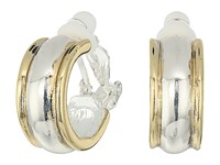 Lauren Ralph Lauren Back To Basics Ii Two Tone Wedding Band Clip Hoop Earrings Two Tone Earring Metallic