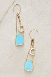 Anthropologie Ciel Drops Turquoise