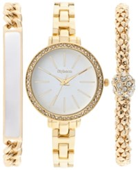 Styleandco. Style And Co. Women's Gold Tone Bracelet Watch And Bracelets Set 32Mm Sy041gf Only At Macy's