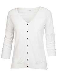 Fat Face Annie Cotton Pointelle Cardigan White