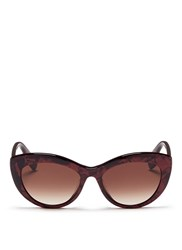 Alexander Mcqueen Shell Effect Acetate Cat Eye Sunglasses Red