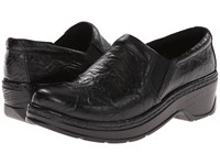 Klogs Usa Naples Black Flower Tooled Women's Clog Shoes