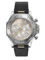 Givenchy Five Stainless Steel Chronograph Watch Black Silver