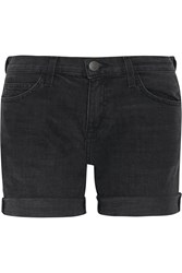 Current Elliott The Slouchy Cut Off Denim Shorts Black