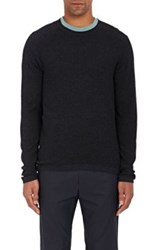 James Perse Men's Thermal Henley Blue