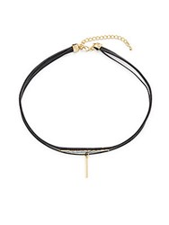 Jules Smith Designs Freya 14K Gold Plated Choker Necklace Gold Black