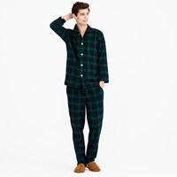 J.Crew Flannel Pajama Set In Black Watch