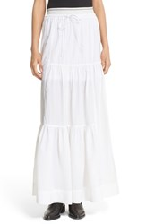 Dkny Women's Tiered Drawstring Maxi Skirt