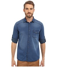 Mavi Jeans Denim Button Down Indigo Men's Long Sleeve Button Up Blue