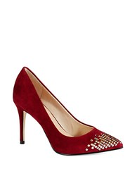 French Connection Elka Stud Accented Heels Burgundy