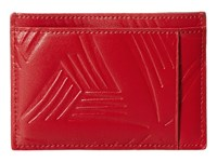 Marni Flower Embossed Leather Card Holder Red Wallet Handbags