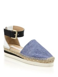See By Chlo Glyn Chambray Espadrille Flatform Sandals