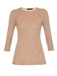 The Row Stacey Lightweight Cashmere Top Beige