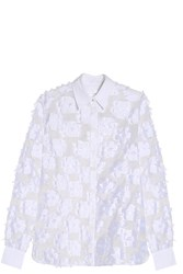 Victoria Beckham Flower Shirt White