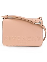 Givenchy Logo Embossed Crossbody Bag Pink And Purple