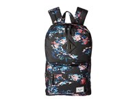 Herschel Post Floral Blur Black Rubber Backpack Bags Multi