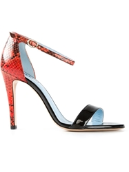 Studio Pollini Ankle Strap Sandals Red