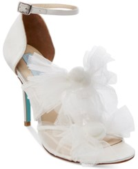Blue By Betsey Johnson Big Tulle Dress Sandals Women's Shoes Ivory