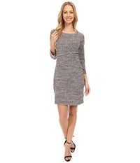 Mod O Doc Spaced Dyed Poorboy 3 4 Sleeve Asymmetrical Tiered Dress Night Shade Women's Dress Blue