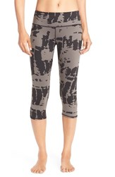 Alo Yoga Women's Alo 'Airbrushed' Performance Capris Black Tie Dye