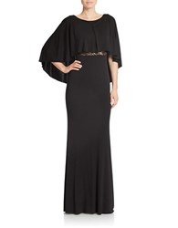 Abs By Allen Schwartz Lace Panel Popover Gown Black