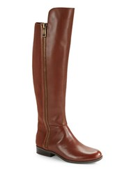 Bandolino Camme Leather Knee High Boots Cognac