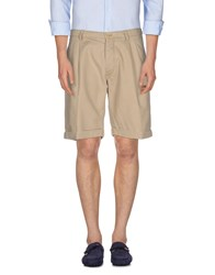 Messagerie Trousers Bermuda Shorts Men Beige