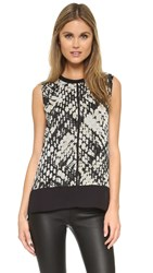 Vince Double Layer Shell Top Macadamia Black