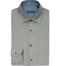 Corneliani Brushed Cotton Twill Shirt Grey