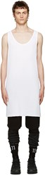 11 By Boris Bidjan Saberi White Asymmetric Top