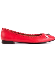 Givenchy Star Studded Ballerinas Red