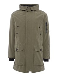 Replay Cotton Blend Jacket Sage Green