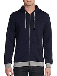 Sovereign Code Cassius Quilted Hoodie Navy