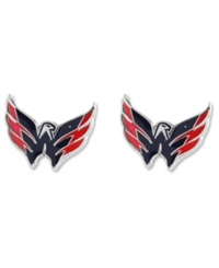Aminco Washington Capitals Logo Post Earrings Team Color