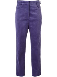 Golden Goose Deluxe Brand Cropped Corduroy Trousers Pink Purple