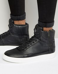 Criminal Damage Catana High Top Trainers Black