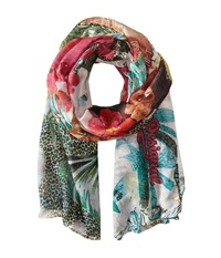 Desigual Hawaiano Green Scarves