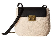 Ugg Vivenne Sheepskin Crossbody Black Natural Cross Body Handbags