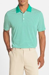 Men's Big And Tall Cutter And Buck 'Trevor' Drytec Moisture Wicking Golf Polo Loft Green White