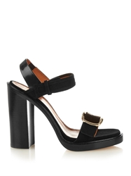 Givenchy Buckle Suede Sandals