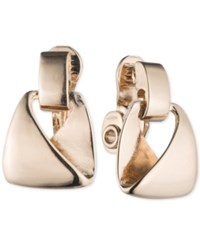 Anne Klein Chunky Geometric Clip On Earrings Gold