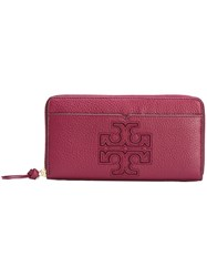 Tory Burch Zipped Elongated Wallet Red