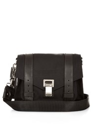 Proenza Schouler Ps1 Leather Trimmed Nylon Cross Body Bag Black
