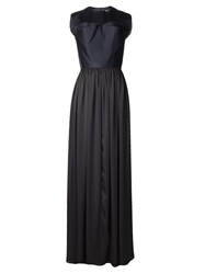 Maison Rabih Kayrouz Ruffle Chest Gown Blue