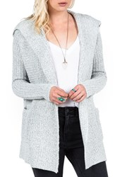 Junior Women's Volcom 'Homeward Bound' Hooded Cardigan
