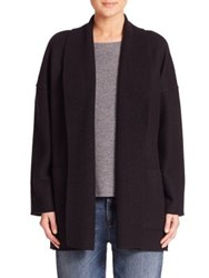 Eileen Fisher Wool Shawl Collar Cardigan Black Poppy