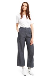 Otho Striped Wide Leg Trousers Navy White